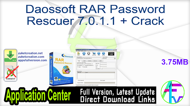 Daossoft RAR Password Rescuer 7.0.1.1 + Crack