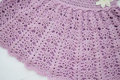 2 - Crochet Imagen Vestido con canesú morado a crochet muy fácil y sencillo por Majovel Crochet