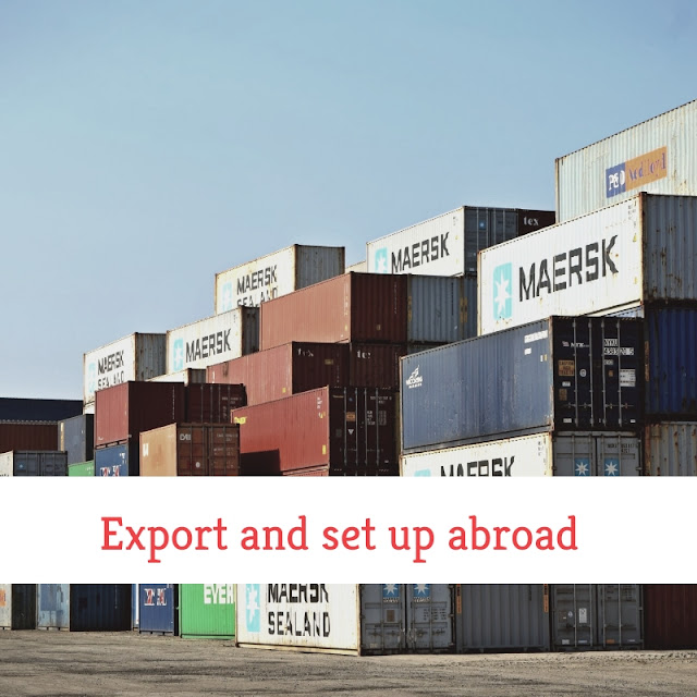 Export and set up abroad