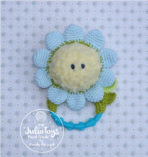 Forget Me Not Rattle And Teething Julio Toys Crochet Patterns