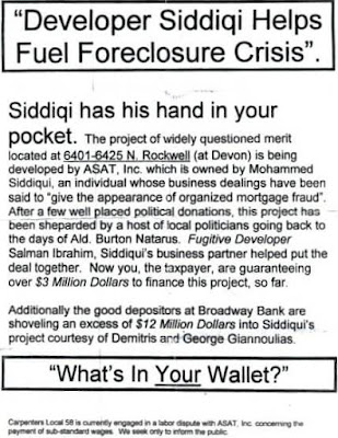 Anti-Siddiqui union flier. Note the poor spelling.