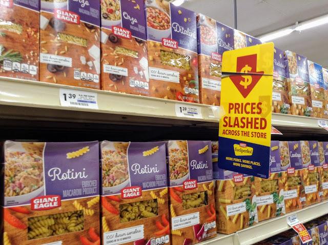 Pasta #GiantEagleSlashedPrices