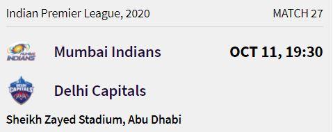 Mumbai Indians match 7 ipl 2020