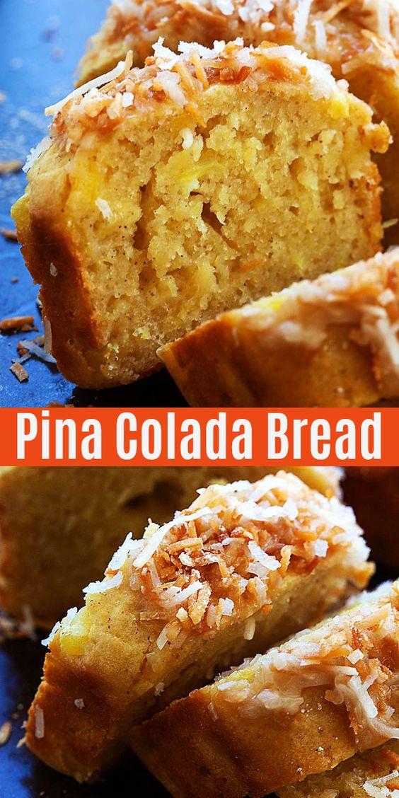 Pina Colada Quick Bread