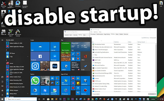 Disable/Hentikan Aplikasi Startup Otomatis di Windows 10