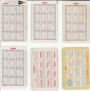 Calendario Del Ano 1969.Colecciono Calendarios Mis Fournier De 1969