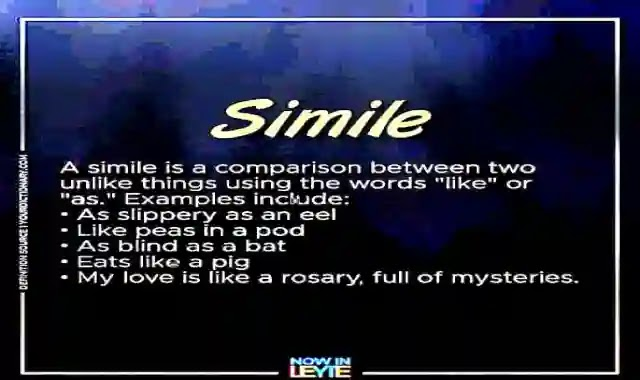 كل تعريفات الشعر poetry اللغة المجازية Figurative language بطريقة سهلة وواضحة poetry - verse - simile - metaphor - personification - alliteration - contrast - rhyme scheme - stanza - paraphrase
