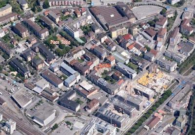 Situation de la Place Robin et Maison de Quartier