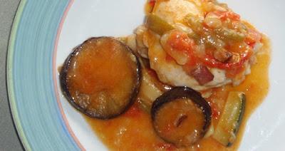 Pollo en samfaina a la catalana