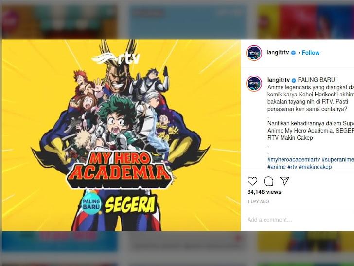 Resmi! Anime My Hero Academia akan Tayang di TV Indonesia