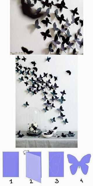 papierowe motyle wzor