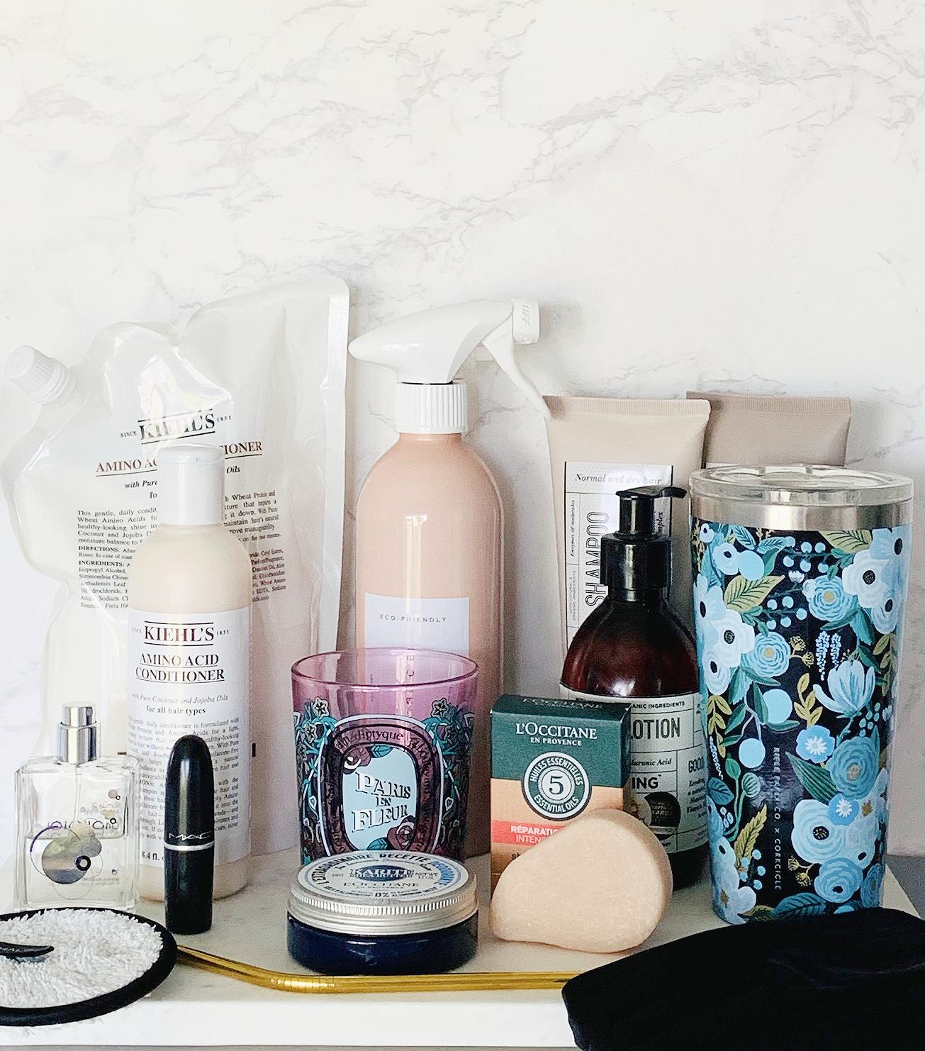 Sustainability tips, Kiehl's Refillables, L'Occitane Refillables,Shampoo Bars,