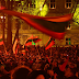 Šventinė eisena su trispalvėmis Vilniaus Gedimino prospektu iki Daukanto aikštės
