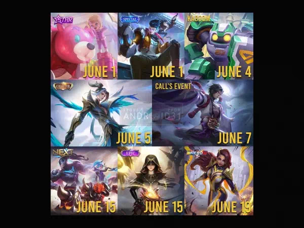 Leaked Mobile Legends Skin for June and July 2021