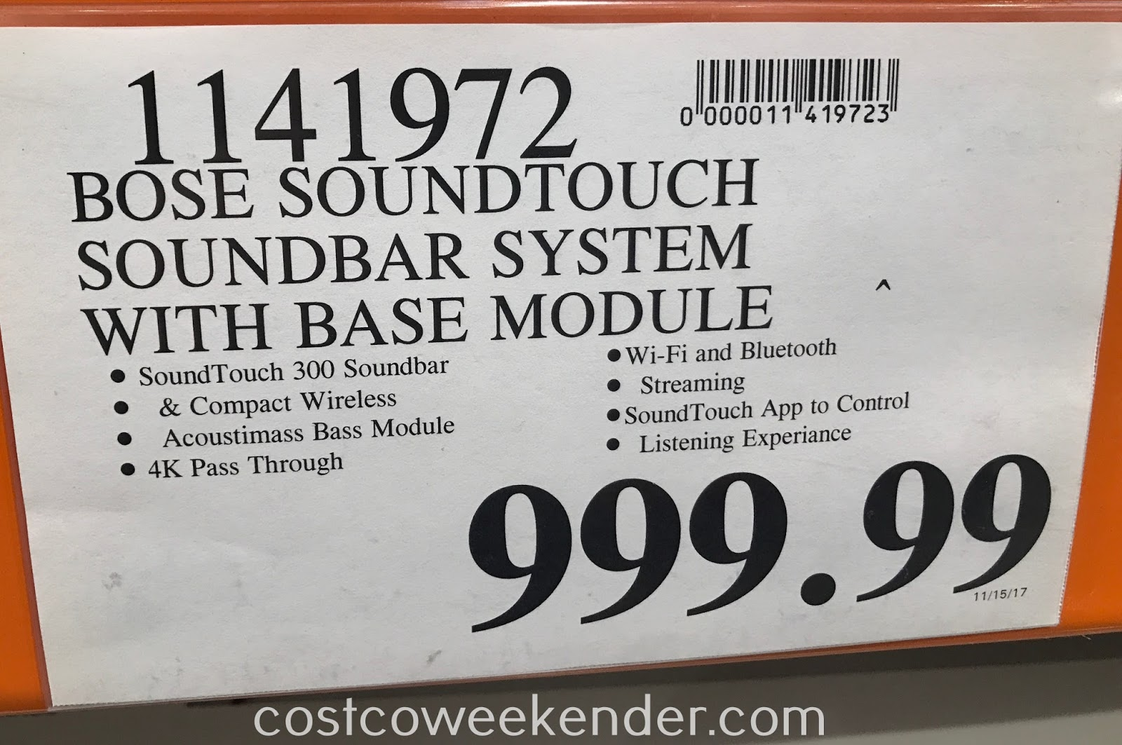 Deal for the Bose SoundTouch 300 Soundbar at Costco