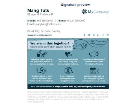 Contoh signature email