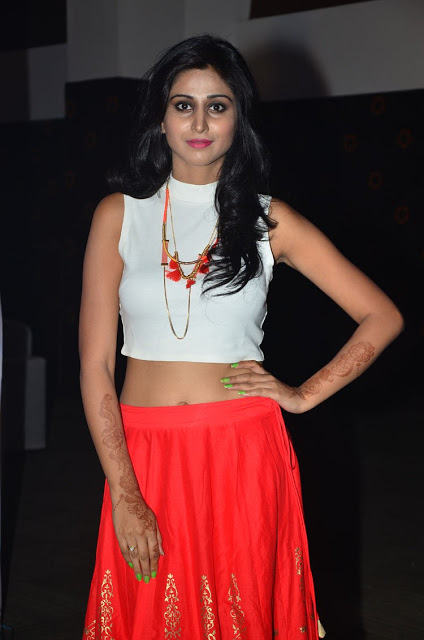 Shamili in Long Skirt and Crop Top