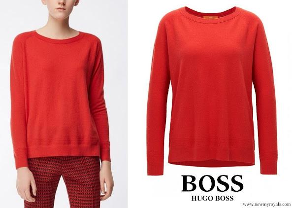 Queen Letizia wore Hugo Boss cashmere sweater