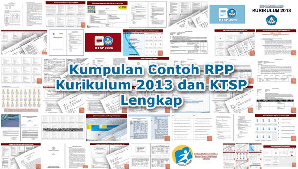 Kumpulan Contoh Rpp Kurikulum 2013 Dan Ktsp Lengkap Berkas Edukasi