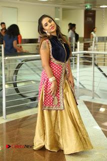 Telugu Actress Sri Reddy Mallidi Stills in White Beautiful Dress at Marriage Needs Bridal Fashion Week 2017 Logo Launch  0173.JPG