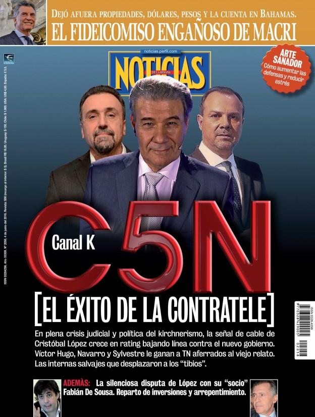 Por qué C5N es un éxito, en revista Noticias