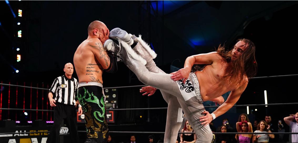 Young Bucks and Rey Fenix in AEW Dynamite