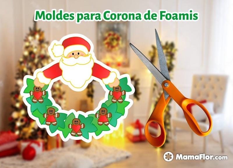 Moldes Navidad Navideño Corona Santa Claus Papa Noel