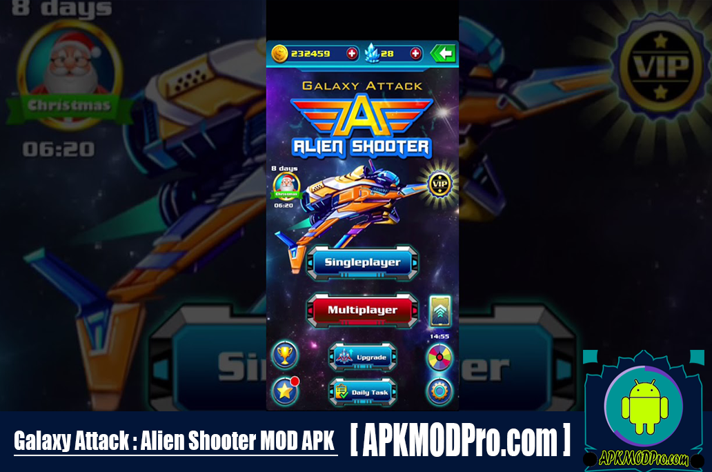 Download Galaxy Attack Alien Shooter MOD APK 20.5 (Unlimited Money) For Android