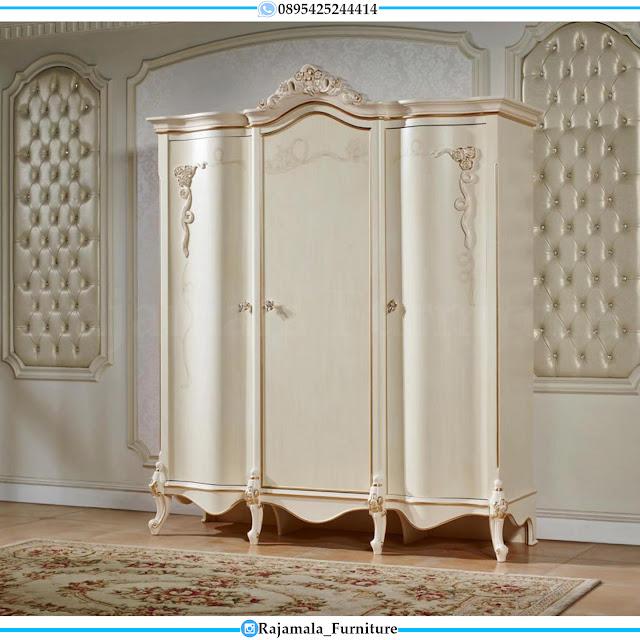 Jual Lemari Baju Mewah Ukiran Klasik Luxurious Design Furniture Jepara RM-0424