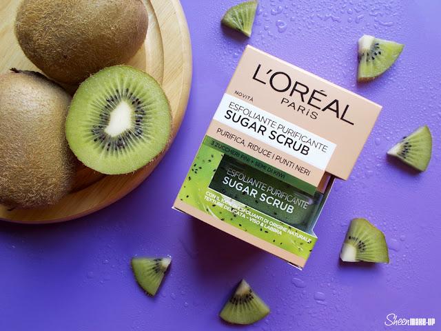 L'Oréal+Sugar Scrub+Esfoliante purificante+Kiwi