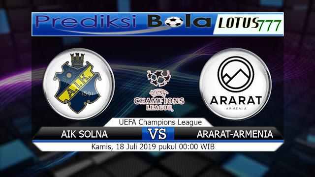 PREDIKSI AIK SOLNA VS ARARAT-ARMENIA KAMIS 18 JULI 2019