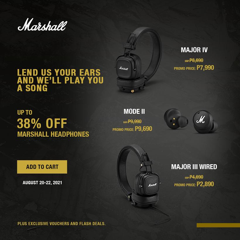 Marshall Speakers and Headphones SALE!