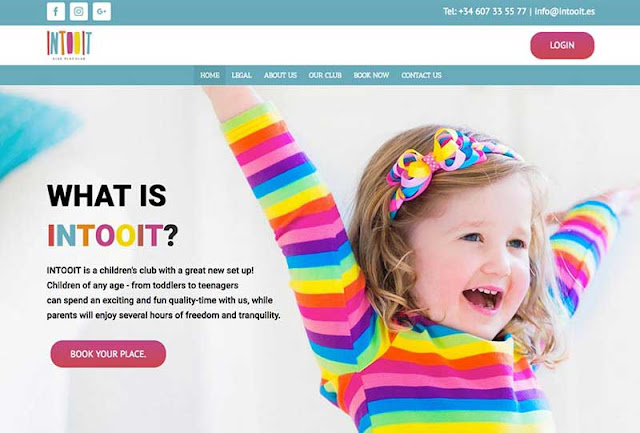 Web design - Intooit Childrens Club Puerto Banus, Marbella
