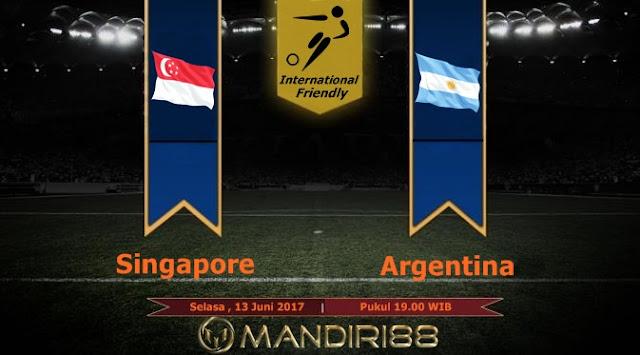 Prediksi Bola : Singapore Vs Argentina , Selasa 13 Juni 2017 Pukul 19.00 WIB