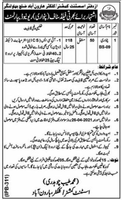 revenue-department-Haroonabad-jobs-2021