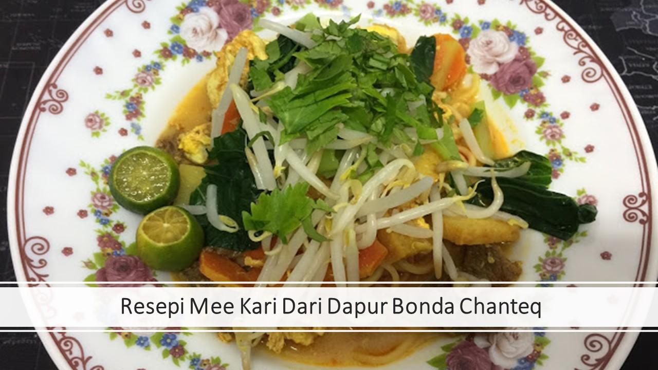 Resepi Mee Kari Dari Dapur Bonda Chanteq