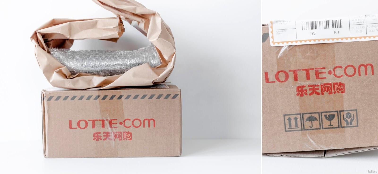 lavlilacs April 2017 haul - Global Lotte EMS packaging