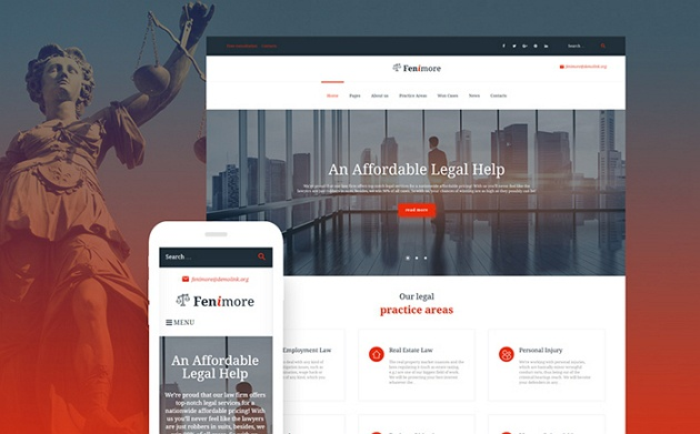 best sellers law firms website template