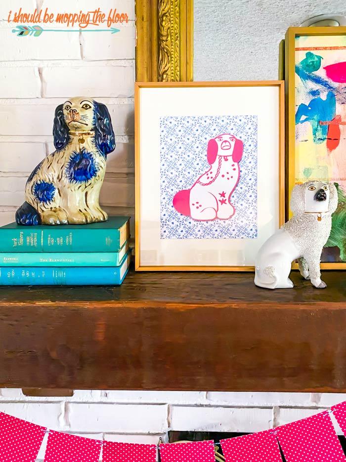 Staffordshire Dog Printable