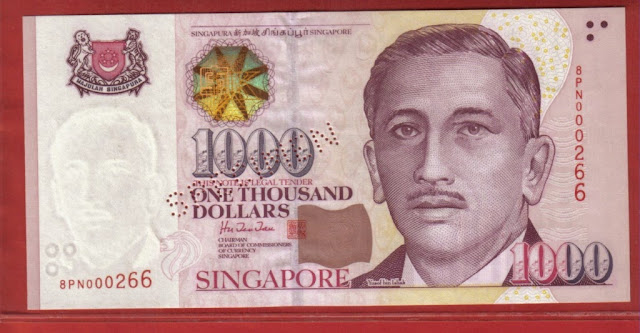 1000 singapore dollar bill