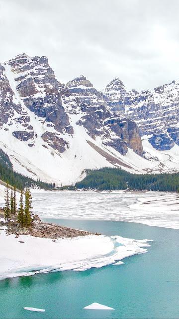 HD Wallpaper Winter, Landscape, River, Mountains, Snow