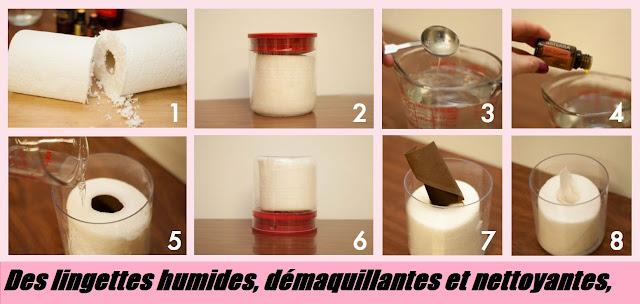Fabriquer des lingettes humides, démaquillantes et nettoyantes, en plus de ça rajeunissantes