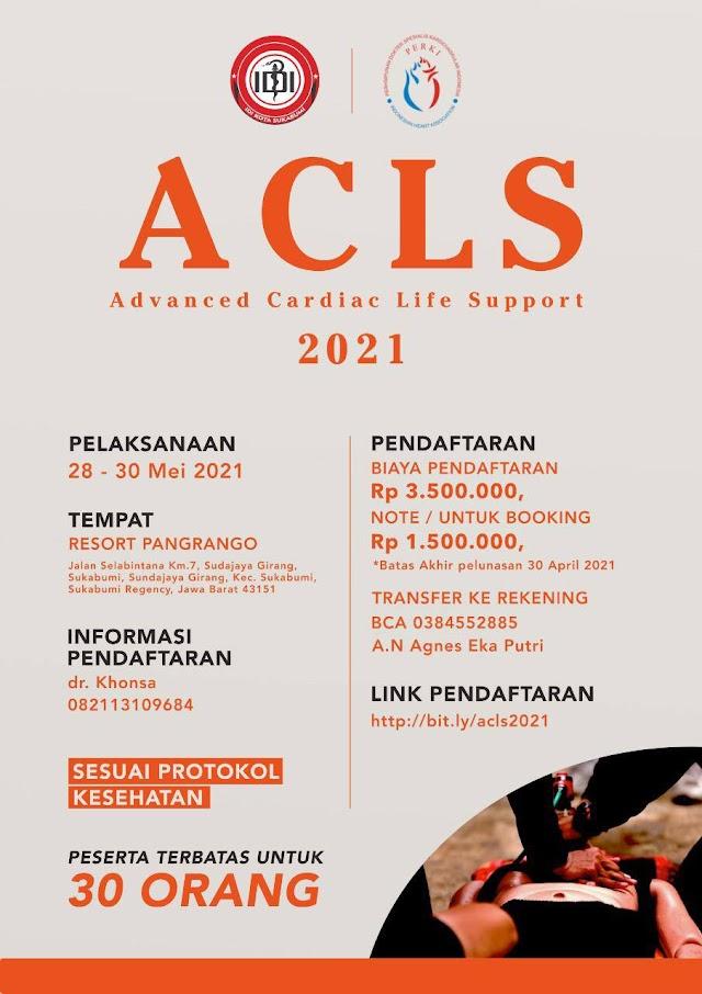 Pelatihan ACLS 2021 Penyelenggara IDI Kota Sukabumi Bekerjasama dengan PERKI