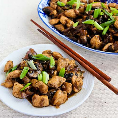 Mark Bittman's Ginger Chicken with Mushrooms and Thai Flavors from KalynsKitchen.com