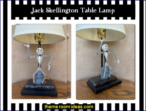 Jack Skellington Table Lamp nightmare before christmas decor jack sally bedroom decorating