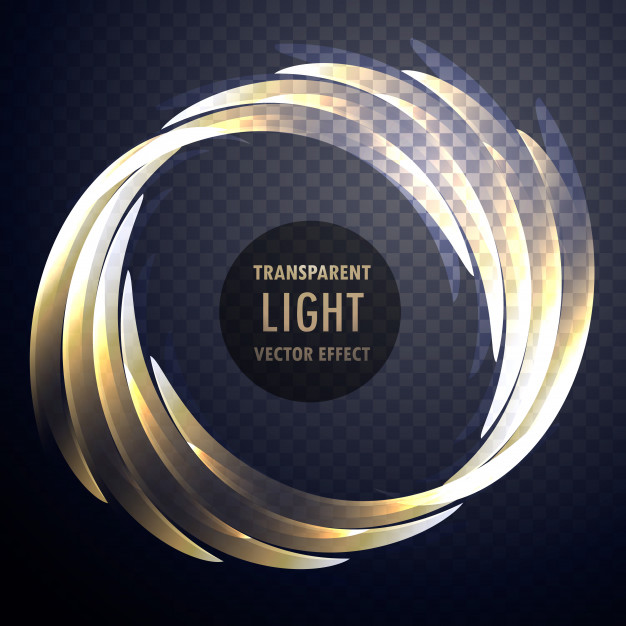 Transparent shiny light effect vector swirl background Free Vector