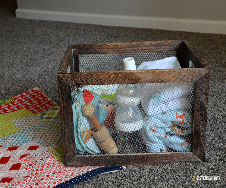 baby essentials and baby necessities to leave for the babysitter to have on hand