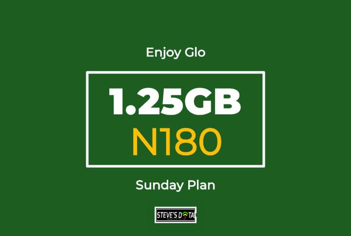 Steve's data glo 1.25gb for n180