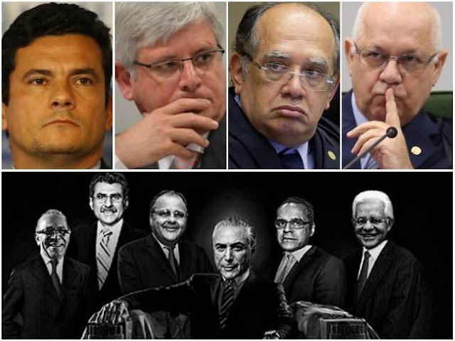 Os pacotes contra a inflação abriram esse espaço para operações de arbitragem de taxas, de jogadas no mercado de câmbio e de vendas de estatais. Criava-se a comoção nacional, em nome da união contra o inimigo maior – a inflação – e conferia-se ao comandante econômico o direito de matar. E matava-se valendo-se da sofisticação da matemática financeira.  O novo normal brasileiro incluiu o golpe do impeachment, que fere fundo a democracia, e um bando assaltando o poder com arcos, flechas e tacapes.  Mas não sufocou outras formas de manifestação democrática, como a autonomia dos poderes, o novo protagonismo das redes sociais, as manifestações de movimentos sociais e coletivos e o acompanhamento da cena política pela opinião pública midiática.  Essa democracia, ainda que ferida, é um obstáculo à dois tipos de ações espúrias:  1.     As manifestações ostensivas de poder.  2.     As grandes jogadas financeiras.  E a cada dia que passa mais se consolida o perfil do governo Temer em torno desses dois eixos.  Os personagens públicos que se expõem em demonstrações excessivas de força provocaminvariavelmente uma reação da opinião pública em sentido contrário.  Ocorre o mesmo nas jogadas financeiras, especialmente após campanhas de cunho moralista, como a que promoveu a tentativa de impeachment de uma presidente eleita.  É nesse terreno movediço que o grupo de Temer se move, como elefantes em loja de louça.