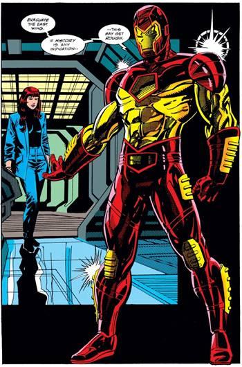 Armadura modular, el modelo con pantalones rojos de Tony Stark
